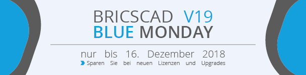 BricsCAD V19 Blue Monday Banner