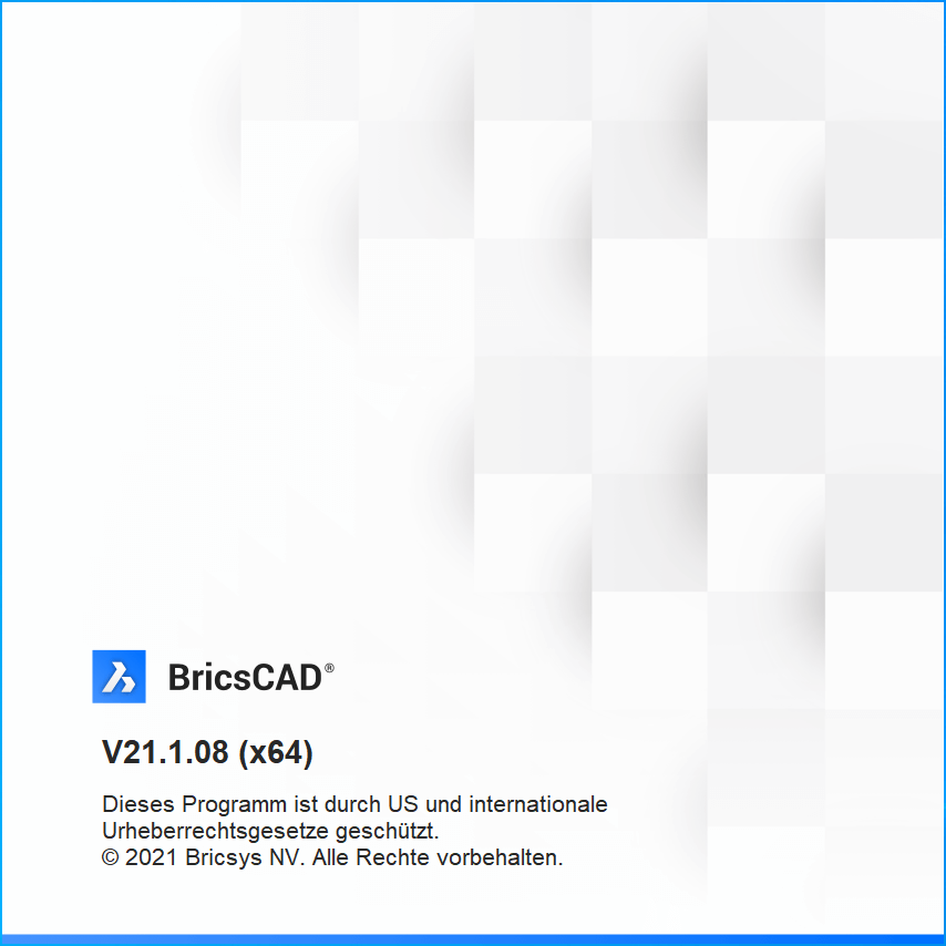 BricsCAD V21.1.08 Splashscreen