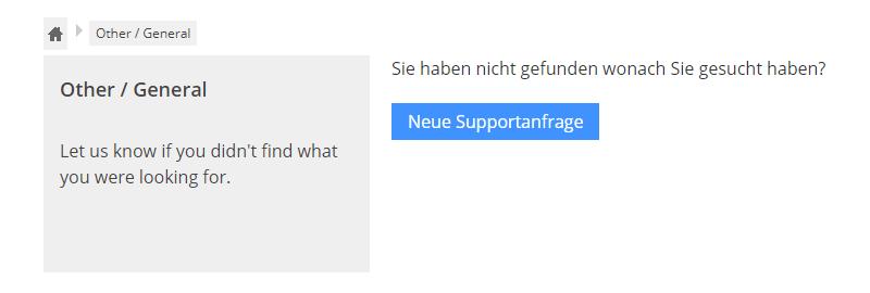 Erstellen einer neuen Supportanfrage