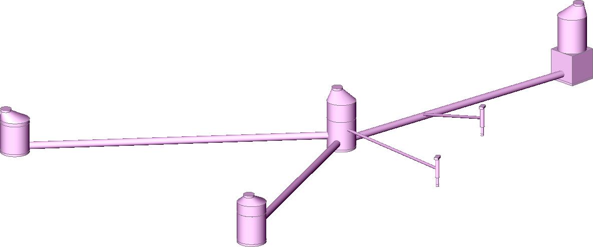 Screenshot 3D-Darstellung einer Kanalplanung