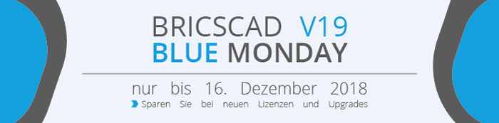 Banner zum BricsCAD V19 Blue Monday
