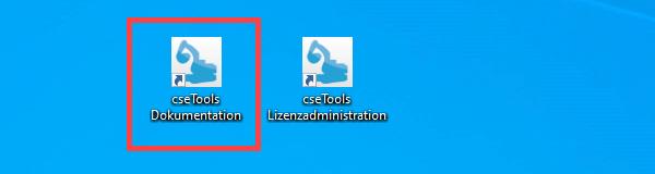 Screenshot Desktopverknüpfung Dokumentation