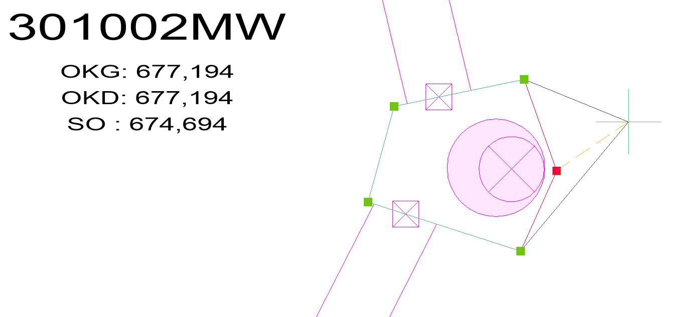 Screenshot Bearbeiten der Bauwerkskontur