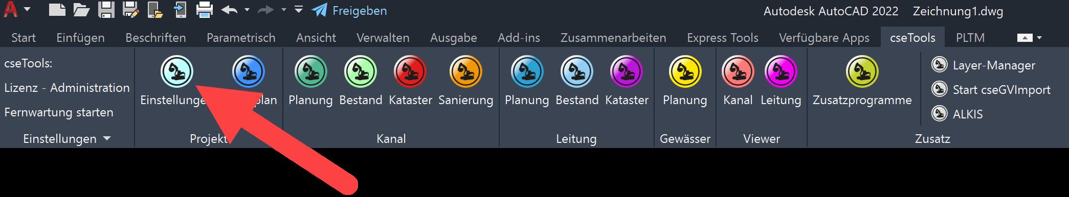 Screenshot Projekteigenschaften im Ribbonmenü