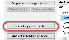 Erstellen einer Fingerprintdatei