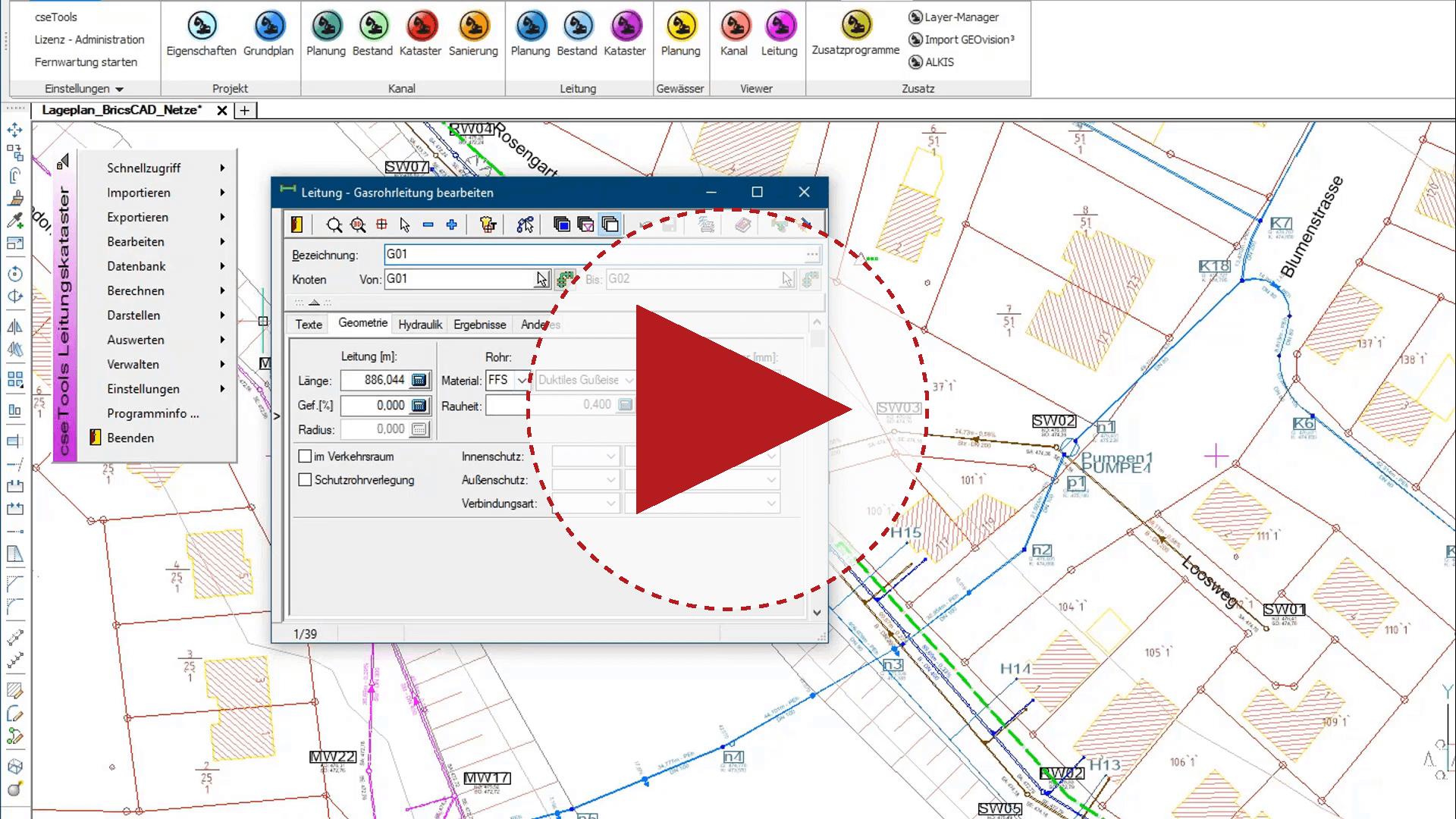 Video: Unterirdische Netze mit BricsCAD dokumentieren