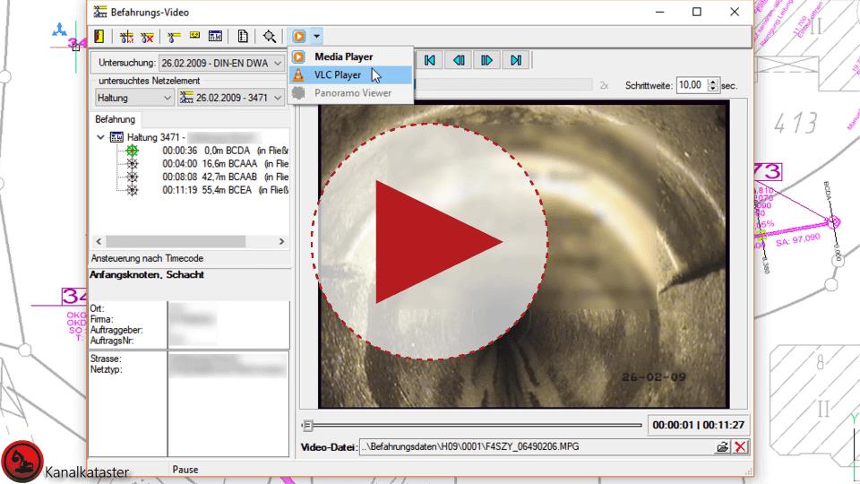 Video: cseTools Kanalkataster, VLC Mediaplayer zum Abspielen von Befahrungsvideos verwenden